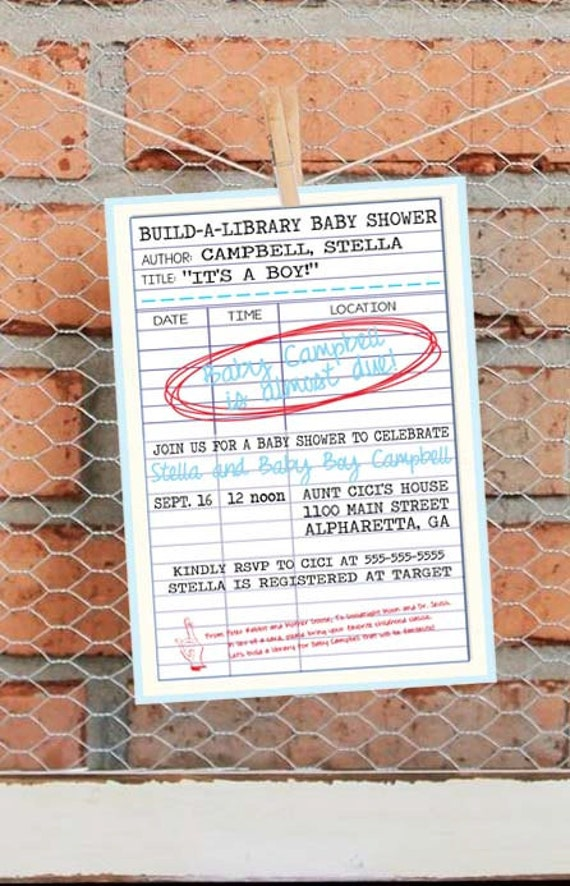 Build a library baby shower library card baby shower etsy image 0 filmwisefo