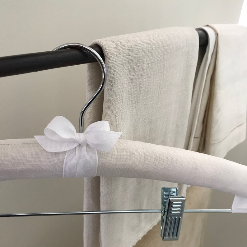 Padded Hanger with Clips Vintage French Skirt hanger Bridal image 0