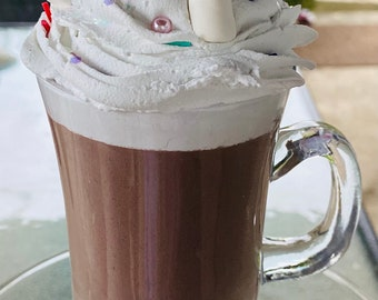 Fake hot cocoa-hot cocoa tiered tray decor-hot cocoa bar-coffee bar decor-fake sundaes