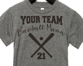 391c3245 Baseball Shirts for women / Baseball Mom Shirt / baseball mama t-shirt / Mom  Shirts / Sports shirts / Custom Tee / Customized baseball shirt