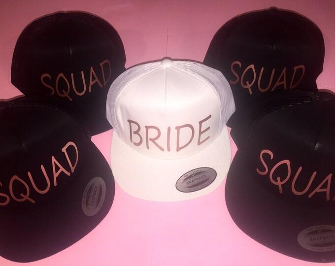 20978a53c9ded Rosegold Bachelorette party hat. Bachelorette trucker cap set of 4