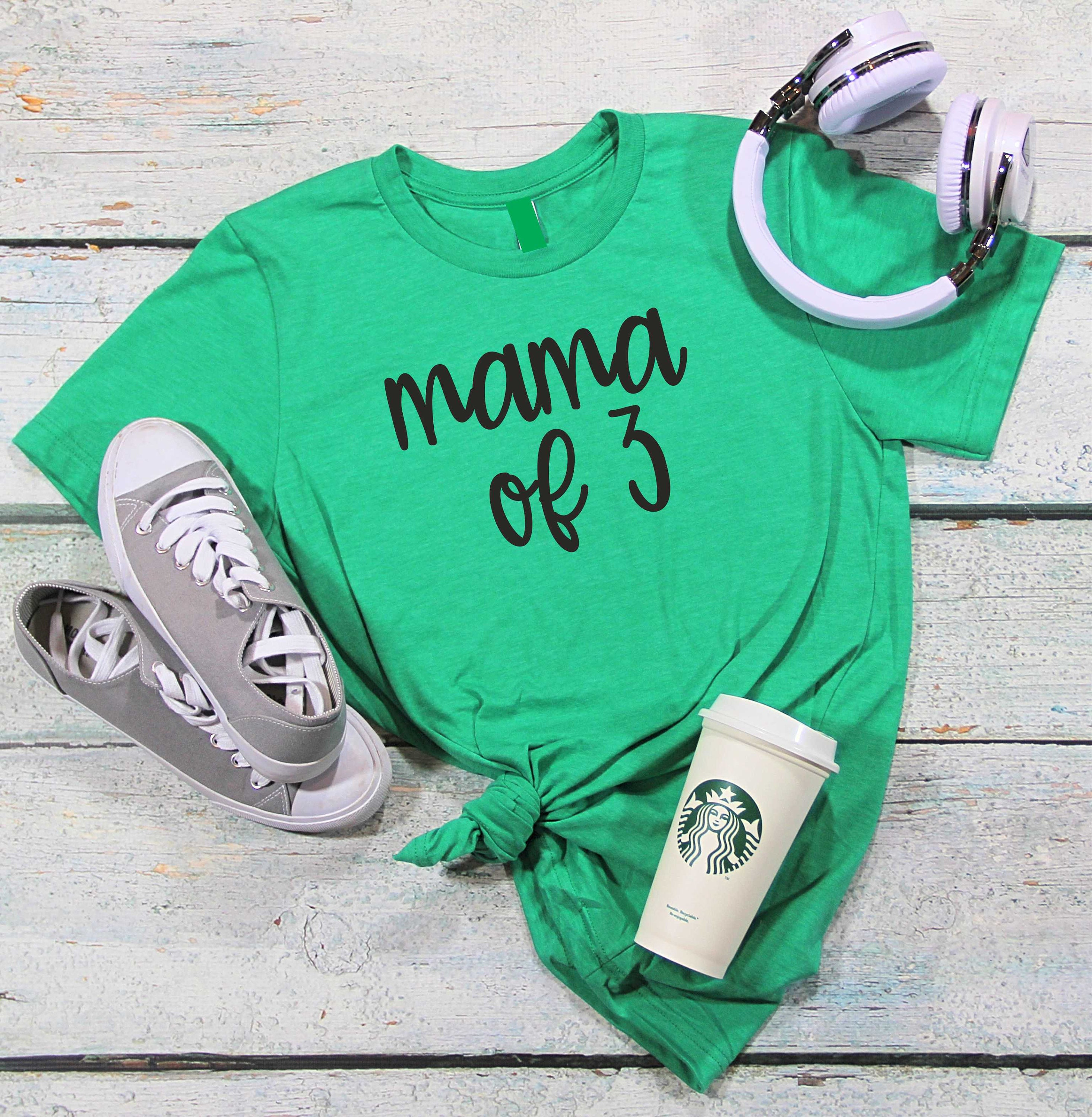 Cute Christmas Gift Ideas For Mom.Motherhood Shirt Mama Of 3 4 5 Gift For Mom Mothers Day