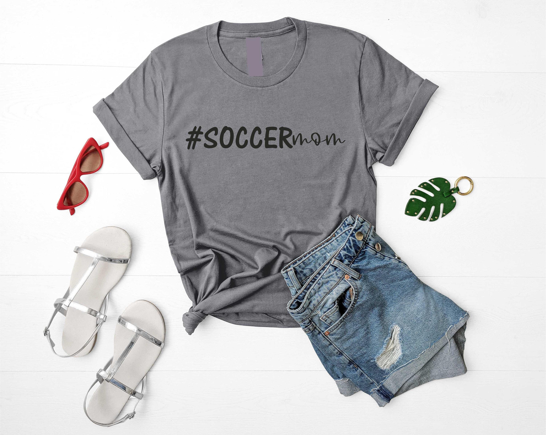 137924ca7 Soccer mom shirt - cute soccer momma t-shirt - soccer shirts - womens ...