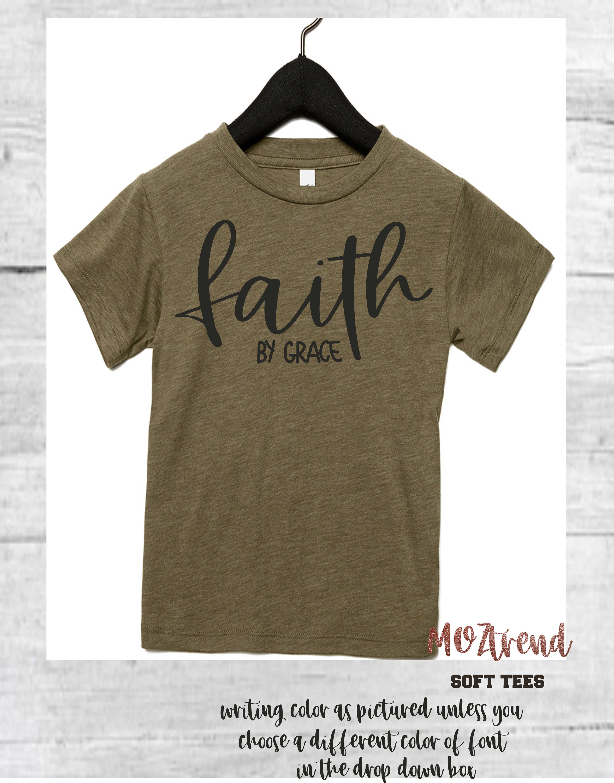 Womens cozy shirts / Faith By Grace Shirt / Christmas gifts / Faith ...