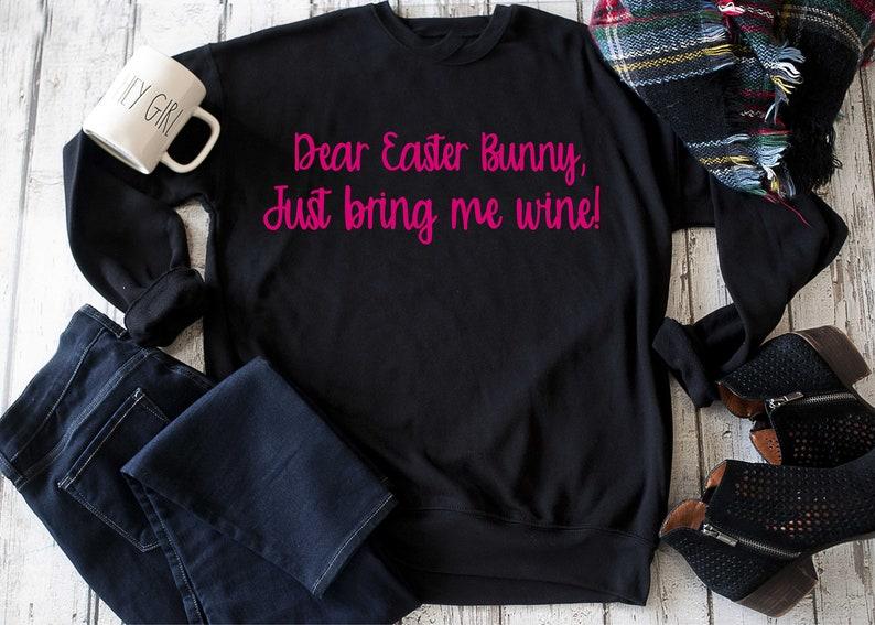 c9f5c4a4b0b Funny Easter sweatshirt   wine Easter sweater   womens unisex