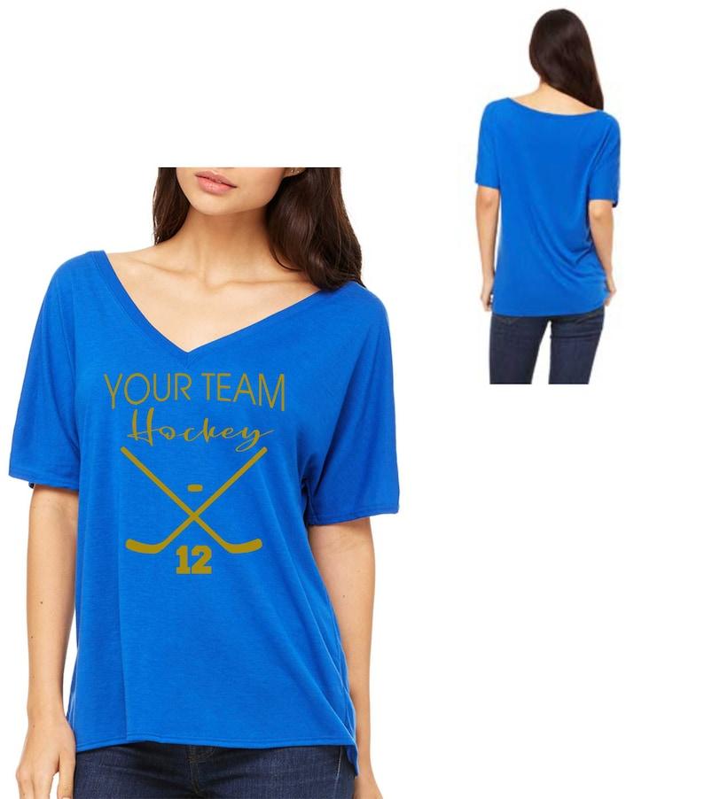94785c62f Custom Field Hockey Shirt / Womens Hockey T-Shirt . Hockey Mom | Etsy