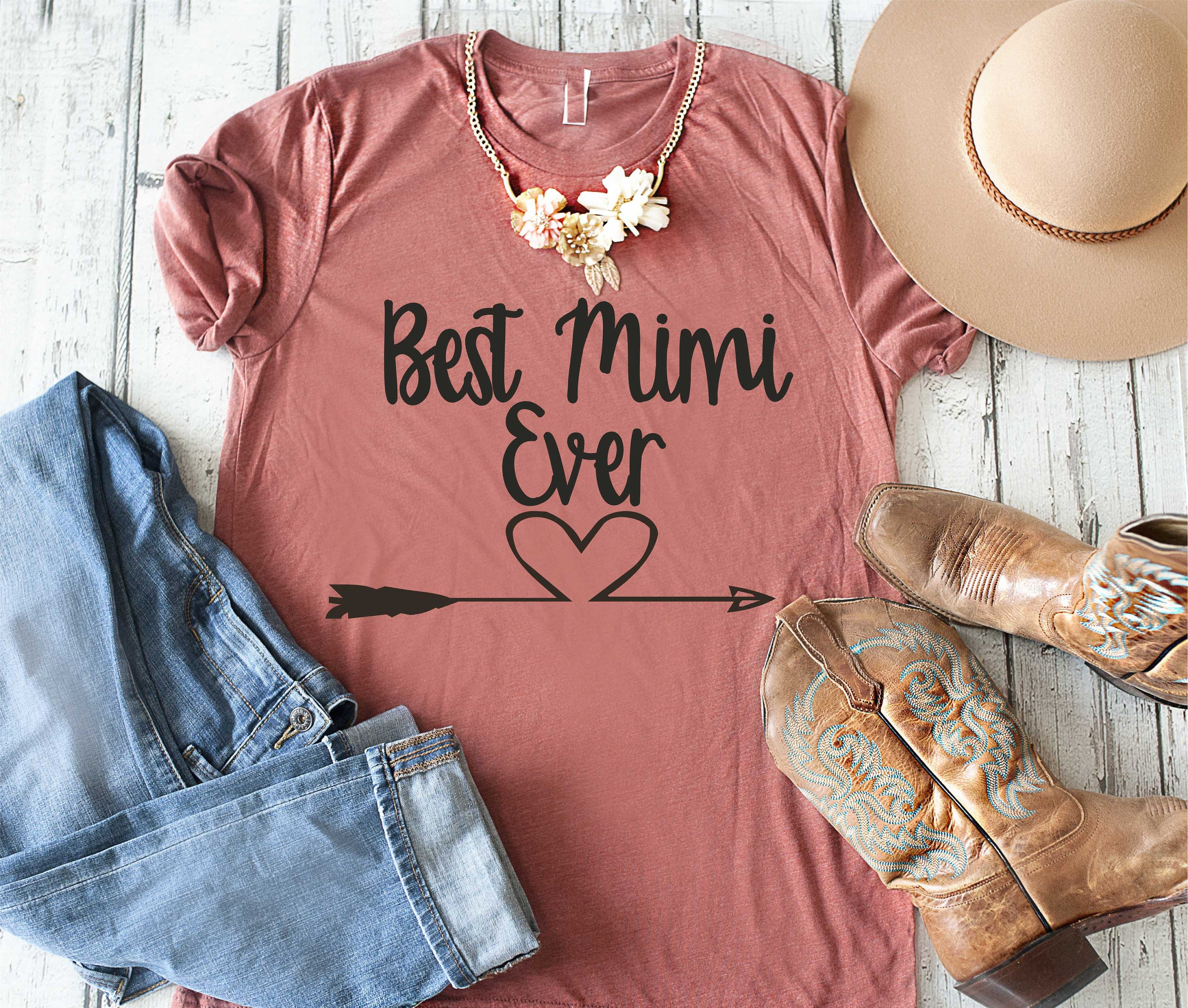 Best Mimi Ever Shirt Cute T Grandma Shirts Grandmother Gifts Birthday Gift Ideas For