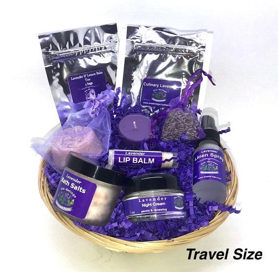 Lavender Gift Basket Free Shipping BATH SALTS