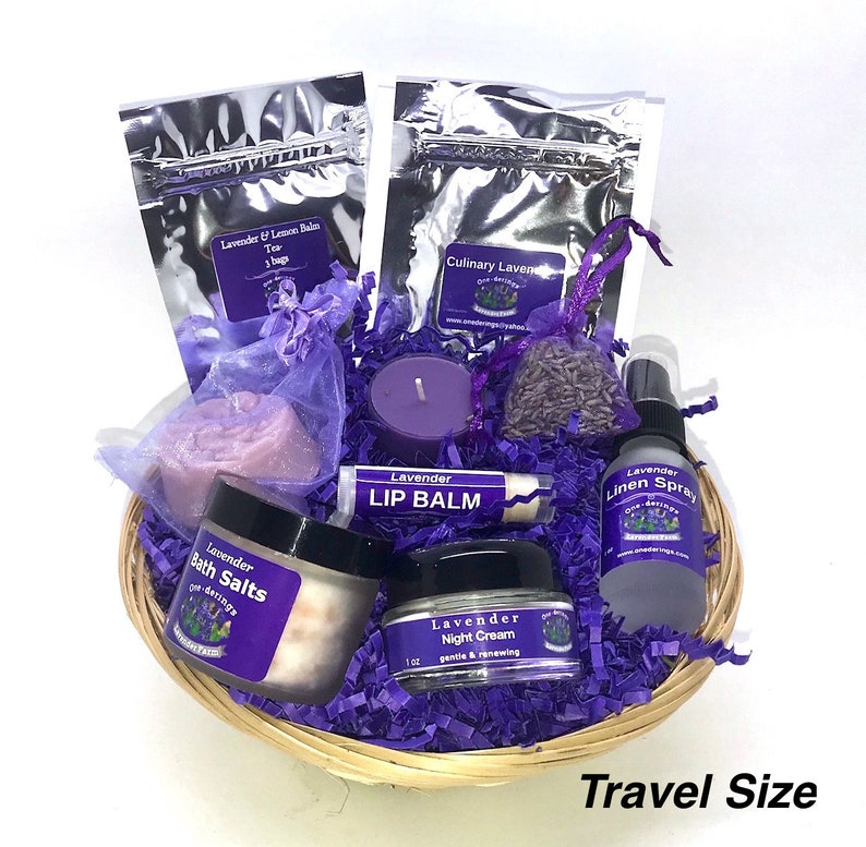 Lavender Gift Basket Free Shipping BATH SALTS