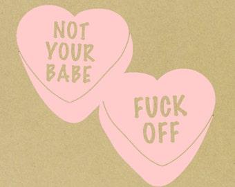 Rude Candy Hearts Etsy