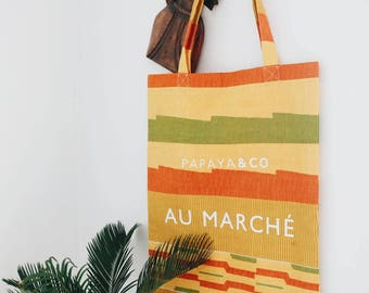 African Wax Print Tote Bag / African Wax Print Market Bag / Ankara Tote Bag / Ankara Market Bag - PAPAYA & CO