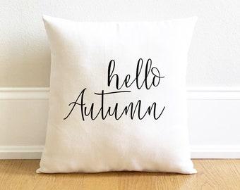 hello autumn pillow cover, fall pillow cover, farmhouse fall pillow cover for fall autumn, thanksgiving pillow  cover