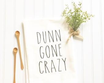 Rae Dunn inspired gift for mom mothers day Dunn Gone Crazy flour sack towel gift for her coffee lover kitchen decor women's gift