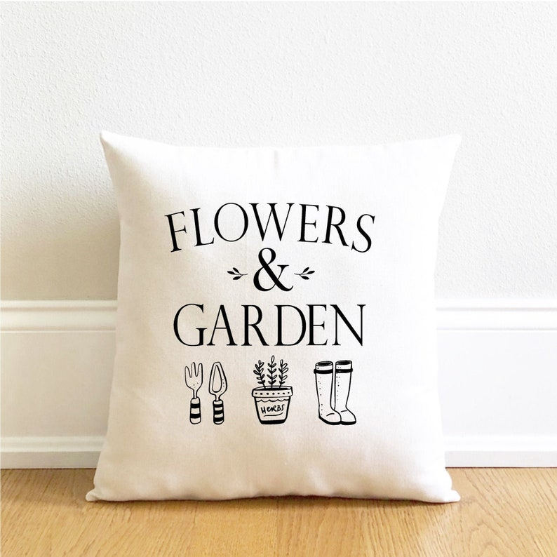 pillow cover flowers and garden pillow cover spring decor image 0