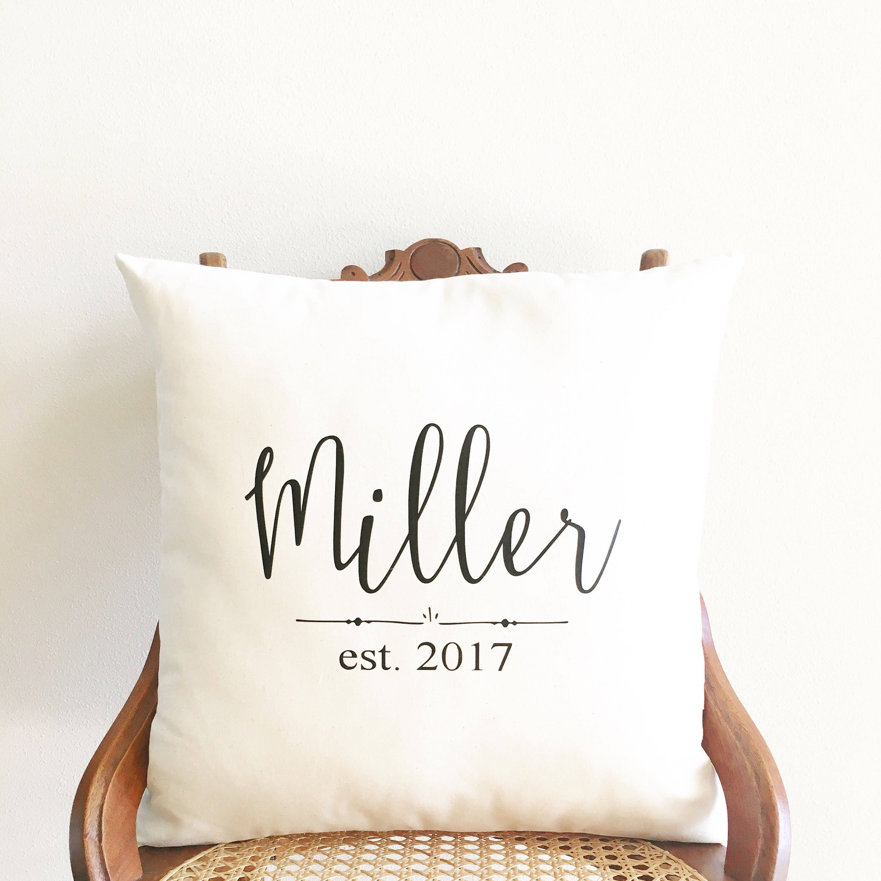 Unique Wedding Gifts For Second Marriage: 2nd Anniversary Gift Personalized Wedding Date Pillow