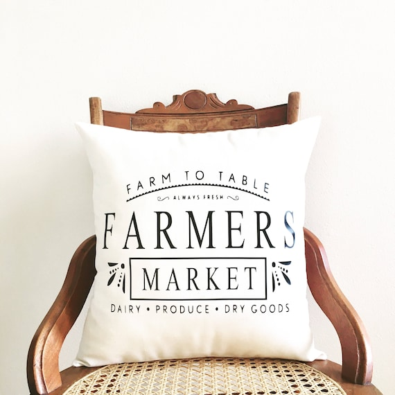 Fresh flower market pillow cover