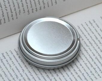 50ml Metal Tins, Blank Round Tin Boxes, Press To Open Tin Box, Small DIY Storage Box, 1 Tin Box