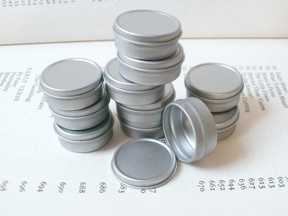 Petites boîtes métalliques 10ml, petit boîte de rangement petit, petit 10ml, organisateur, Blank rondes (lot de 100) couleur argent 08e088