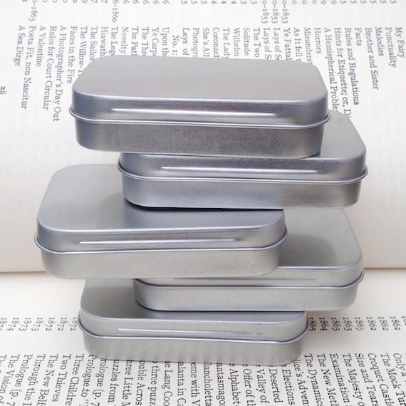 Rechteckige Metalldosen Leere Scharnier Dosen Kleine Behälter 50ml Dose Visitenkartengröße