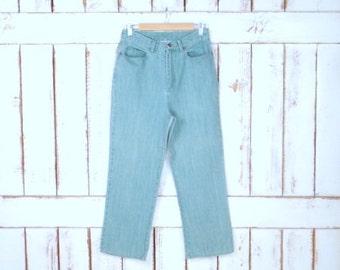 Vintage high waisted light blue denim jeans/mom jeans/Graff Wear