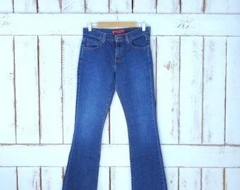 4019001c Vintage Levis 515 boot cut denim jeans/dark wash boot leg jeans/faded/low  rise/6 mis
