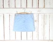 Vintage light blue wash jean denim skorts Gloria Vanderbilt denim mini skirt denim shorts 10