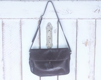 88cb5404d65a 70s vintage dark red maroon leather purse oxblood leather shoulder bag