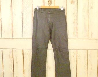 042b368747847 Vintage dark brown leather pants womens leather pants high waisted leather  pants