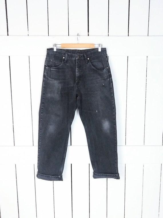 Wranglers black denim vintage jeans/high waisted r