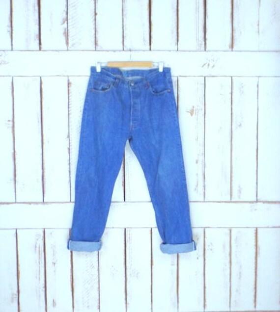 501 button fly light blue denim high waist jeans/v