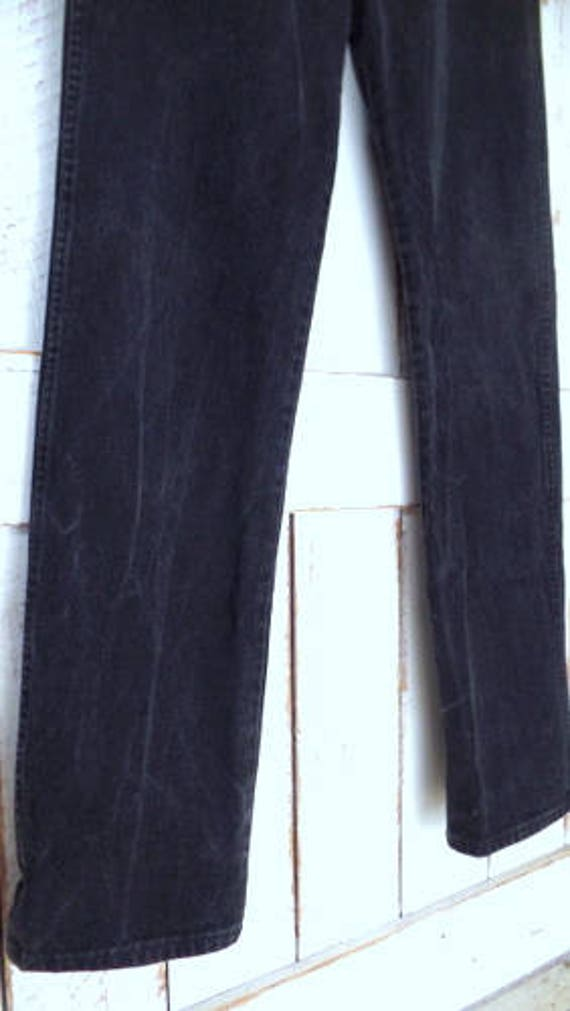 jeans black denim straight relaxed high vintage jeans leg jeans black waisted Wranglers pants vHPqpw