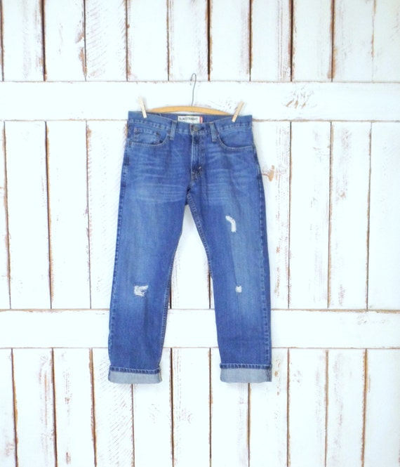 Vintage Strauss leg Levis blue faded jeans straight denim slim 514 jeans jeans Levi blue distressed rxTq1r4O