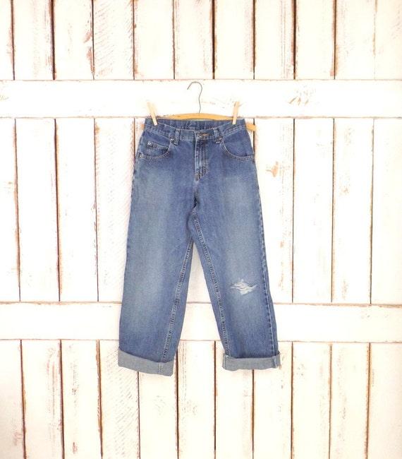Vintage womens Lee blue denim jeans/high waisted s