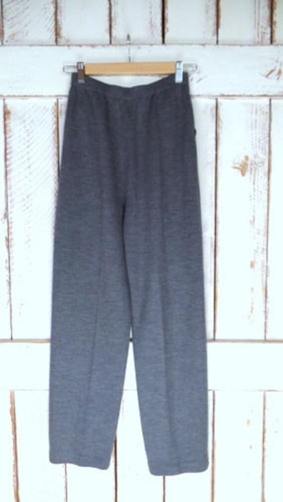 Vintage 80s St. John grey knit pants/grey stretch… - image 4
