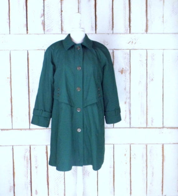 Vintage Misty Harbor green rain over coat/green tr