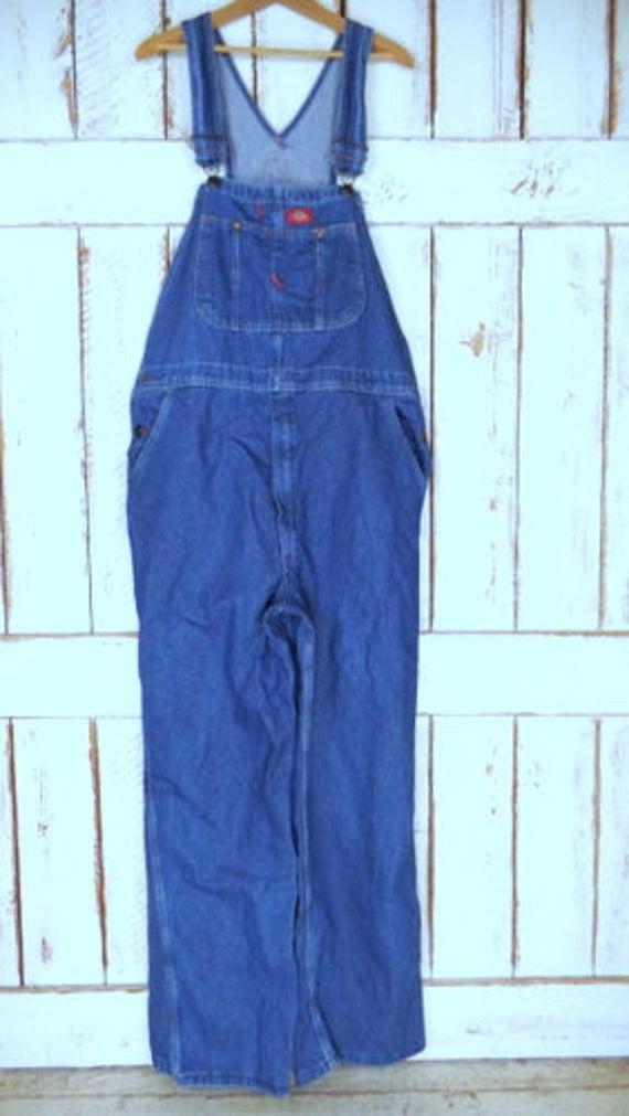 blue denim jean overalls jean denim 90s bib denim Vintage overalls Dickies coveralls 1wYp55