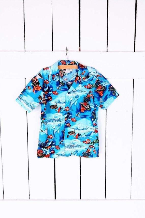 Kids/childrens/baby Hawaiian short sleeve button d