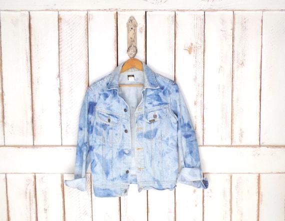 Vintage Lee sun bleached blue denim  jean jacket/l