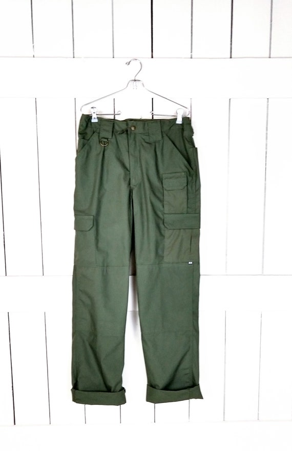 Womens army green tactical cargo range pants/outdo