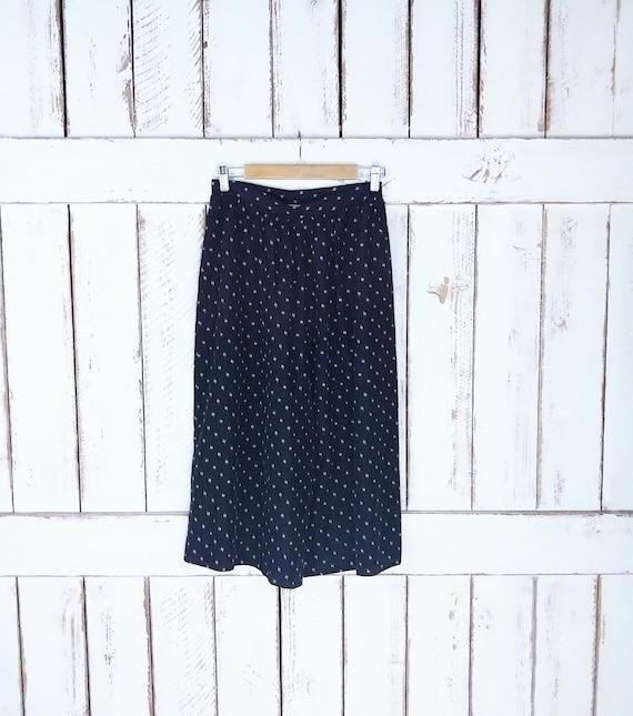 Vintage sheer black speckled wide leg gaucho pants