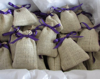 Hessian Lavender Bags, Wedding, Favours, Personalised, Linen, Jute, Home Decor, Handmade, Free Postage, Home, Natural, Eco Friendly