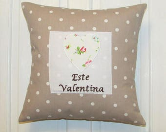 Personalised Childrens Cushion, Taupe, Cushion, Nursery, Kids,Child,Gift, Home Decor, Handmade, Fabric, Home, Home and Garden, Free Postage