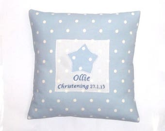 Personalised Childrens Cushion,Blue, Cushion, Nursery, Kids,Child,Gift, Home Decor, Handmade, Fabric, Home, Home and Garden, Free Postage
