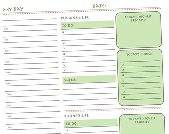 printable weekly mom s planner form meals appointments etsy