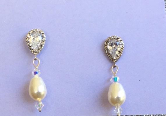 Swarovski teardrop pearls