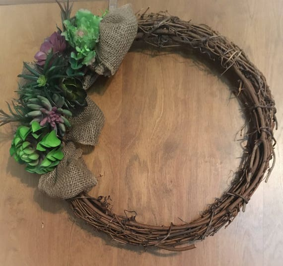 Succulent OutDoor Wreath
