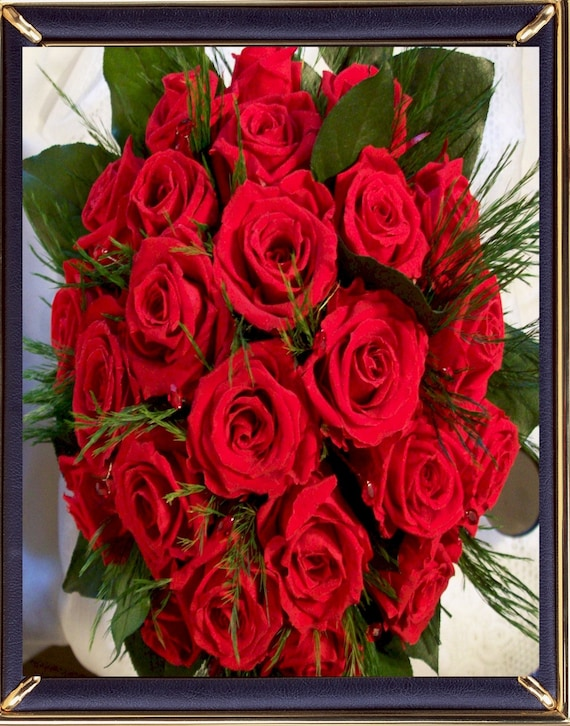 Bridal Red Red Roses Bouquet