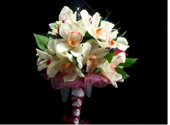 Bridal Orchid and Calla Lily Bouquet