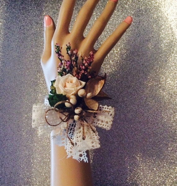 Preserved rose corsage