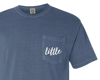 3307ef18ed New LITTLE Comfort Colors Pocket Tee T-Shirt    Sizes S-2XL    You Pick  Color